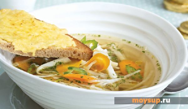 Dietary chicken soup with celery
